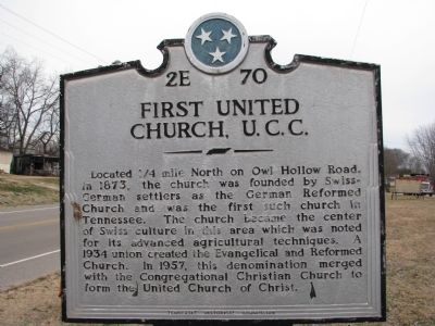 First United Church, U.C.C Marker image. Click for full size.
