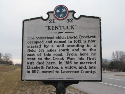 """Kentuck"" Marker image. Click for full size."