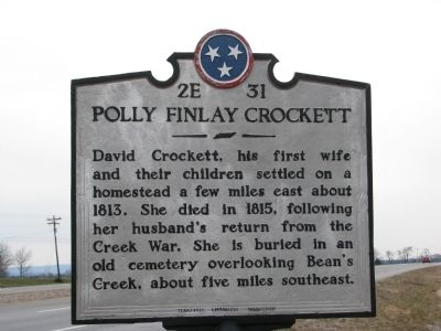 Polly Finlay Crockett Marker image. Click for full size.