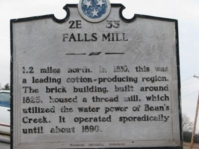 Falls Mill Marker image. Click for full size.