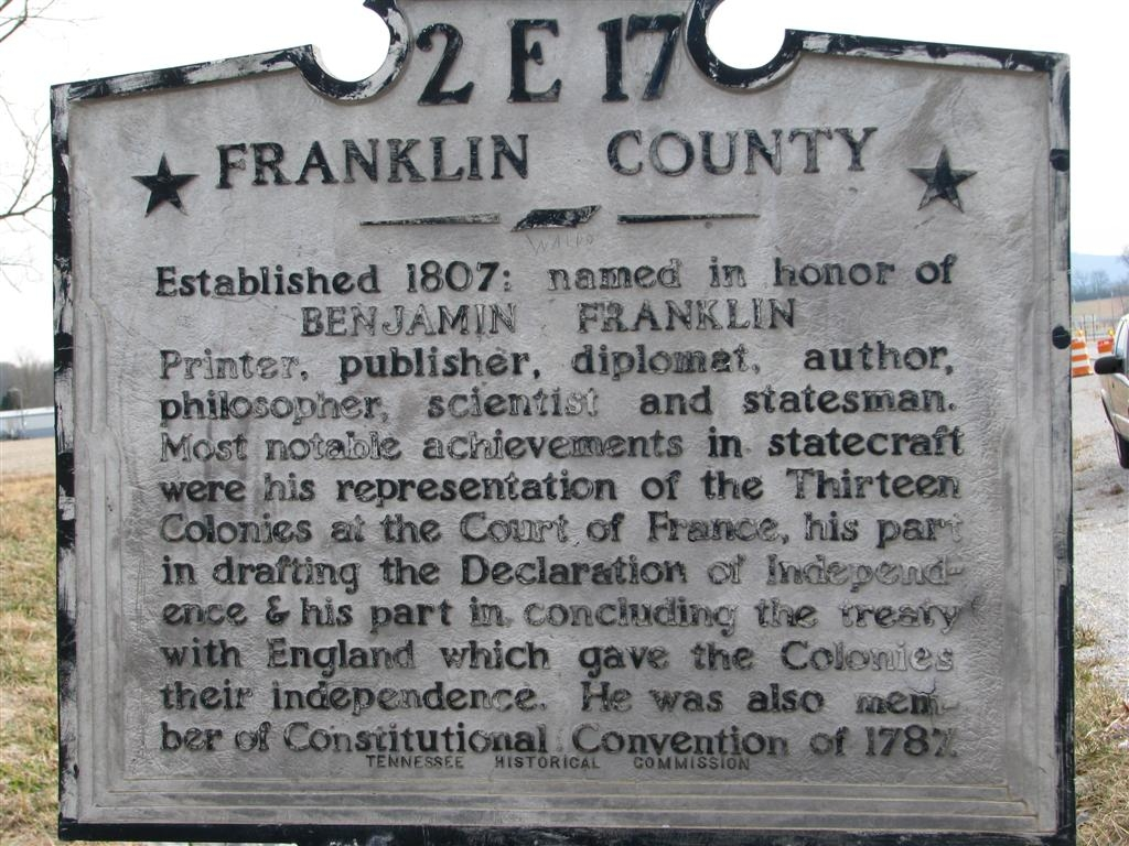 Franklin County Marker