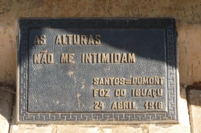 Santos Dumont Memorial - Marker Panel 1 image. Click for full size.