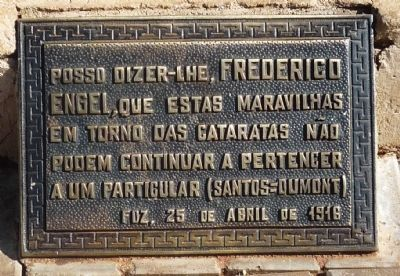 Santos Dumont Memorial - Marker Panel 2 image. Click for full size.