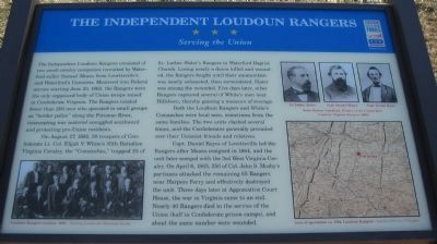 The Independent Loudoun Rangers Marker image. Click for full size.