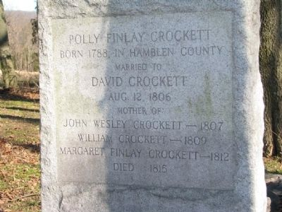 Polly Finlay Crockett Grave image. Click for full size.