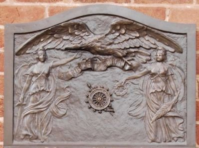 Edgefield County World War I Memorial -<br>Top Relief image. Click for full size.
