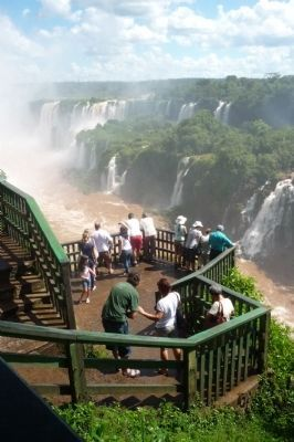 Iguaçu Falls, view from trail below Santos-Dumont Memorial image. Click for full size.