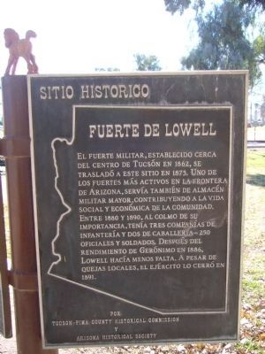 Fuerte De Lowell Marker image. Click for full size.