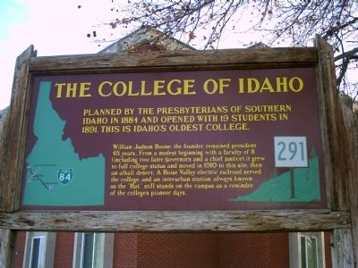 The College of Idaho Marker image. Click for full size.