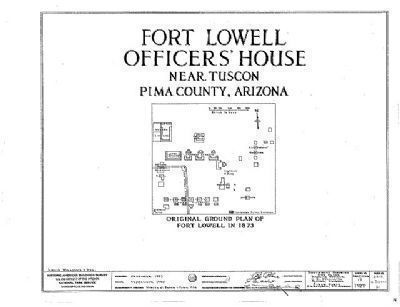 Original Ground Plan of Fort Lowell in 1873 image. Click for full size.