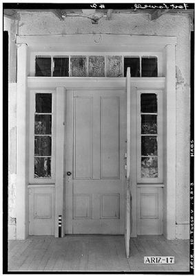 Fort Lowell Officers Quarters Front Entrance Detail image. Click for full size.