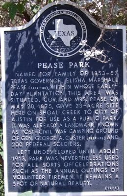 Pease Park Marker image. Click for full size.
