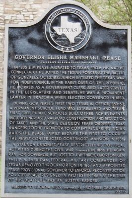 Governor Elisha Marshall Pease Marker image. Click for full size.