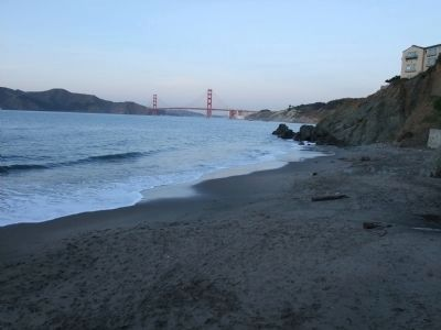 View from China Beach at the waterline looking East image. Click for full size.