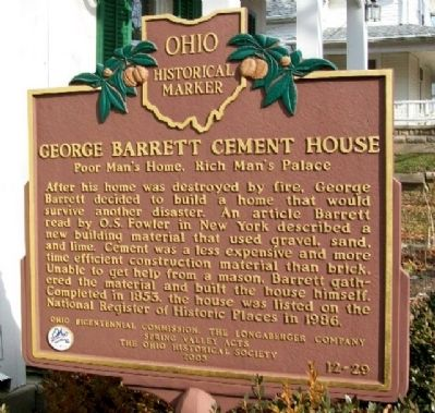 George Barrett Cement House Marker image. Click for full size.