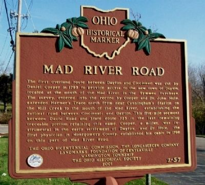 Mad River Road Marker (Side A) image. Click for full size.