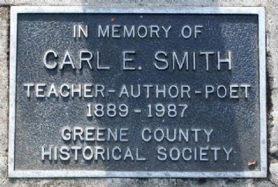 Carl E. Smith Marker at Base of Historical Marker image. Click for full size.