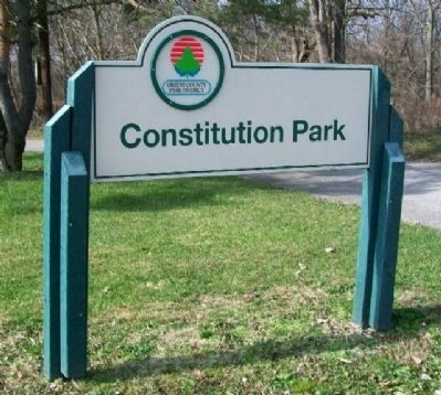 Constitution Park Sign image. Click for full size.