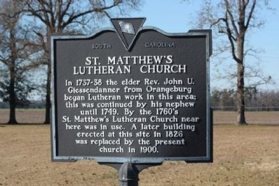 St. Matthew's Lutheran Church Marker image. Click for full size.