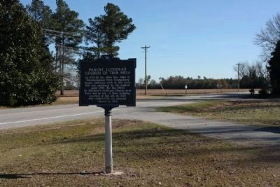 St. Matthew's Lutheran Church Marker, Sherlock road in background image. Click for full size.