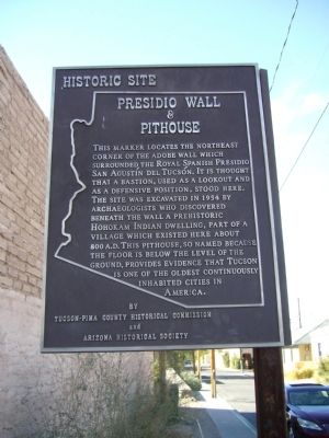 Presidio Wall & Pithouse Marker image. Click for full size.