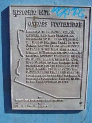 Garcés Footbridge Marker image. Click for full size.