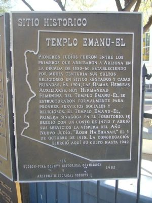 Temple Emanu-El Marker image. Click for full size.