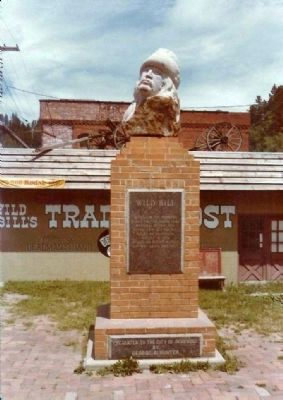 Wild Bill Marker, prior to re-cast in bronze image. Click for full size.