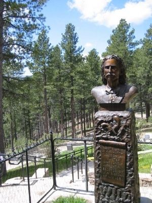 Wild Bill Hickok, present day gravesite image. Click for full size.