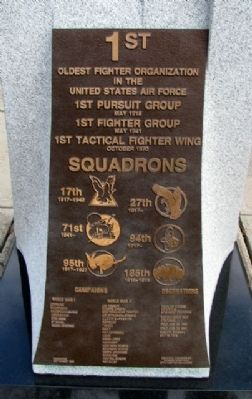1st Fighter Group Memorial (rear) image. Click for full size.