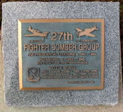 27th Fighter Bomber Group Marker image. Click for full size.