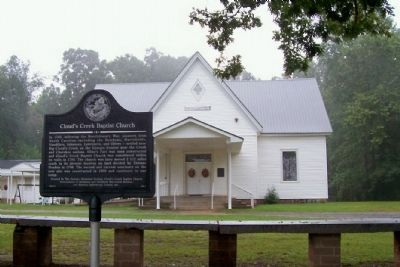 Cloud's Creek Baptist Church and Marker image. Click for full size.