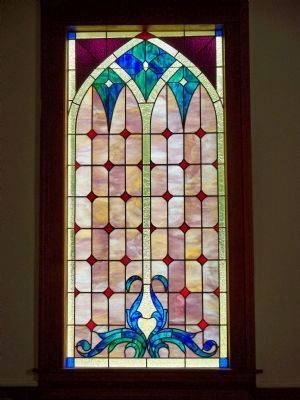 Cloud's Creek Baptist Stained Glass Window image. Click for full size.