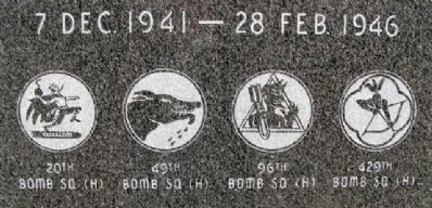 2nd Bomb Group (H) Memorial Squadrons image. Click for full size.