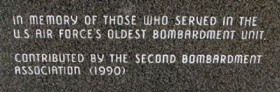 2nd Bomb Group (H) Memorial image. Click for full size.