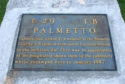 Palmetto Marker image. Click for full size.