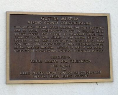 Gustine Museum Marker image. Click for full size.