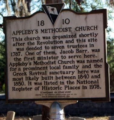 Appleby's Methodist Church Marker image. Click for full size.
