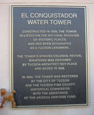 El Conquistador Water Tower Marker image. Click for full size.