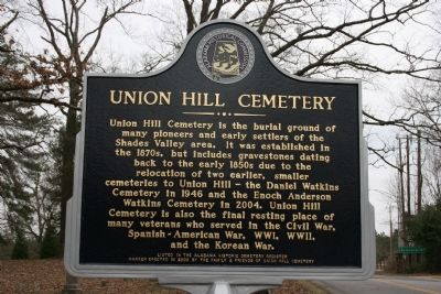 Union Hill Cemetery Marker image. Click for full size.