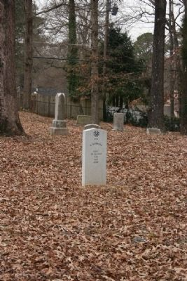 Gravesite of Pvt C. Burrell Co C 20 Ala Inf CSA 1843 - 1900 image. Click for full size.
