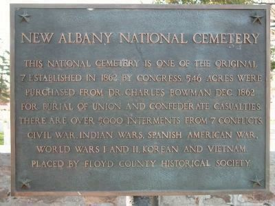 New Albany National Cemetery Marker image. Click for full size.