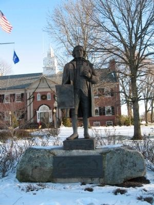 Jonathan Trumbull Statue in front of Trumbull Town Hall image. Click for full size.
