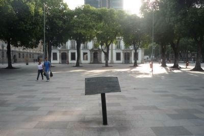 Praça 15 de Novembro Marker - the Imperial Palace in background image. Click for full size.