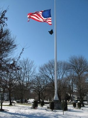 Memorial Flag Pole image. Click for full size.