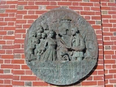 Bronze Plaque at the Right of the Entrance image. Click for full size.