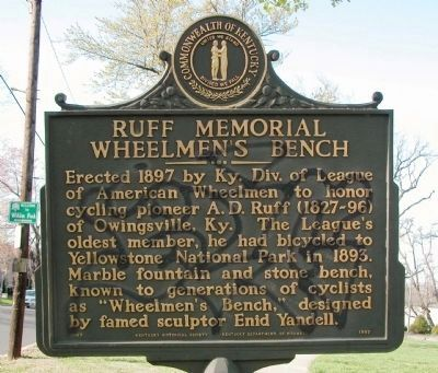 Ruff Memorial Wheelmen's Bench Marker image. Click for full size.