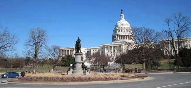 James A. Garfield Memorial with the U.S. Capitol in the background image. Click for full size.