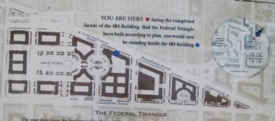 Permanence and Grandeur: Building the Federal Triangle Marker image. Click for full size.