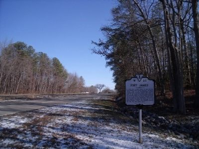 Fort James marker on US 60 (facing east) image. Click for full size.